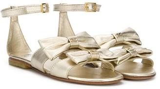 Elisabetta Franchi La Mia Bambina Bow-Detail Sandals