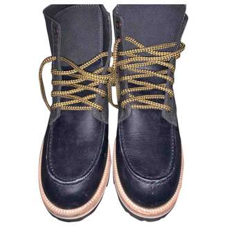 Louis Vuitton Navy Leather Boots