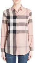 Burberry Women's Check Print Cotton Shirt
