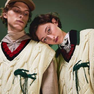 Lacoste Unisex Fashion Show Oversized Sleeveless Golf Sweater