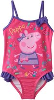 Toddler Girl Peppa Pig Ruffle One-Piece Swimsuit