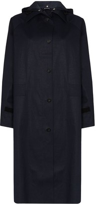 Kassl Editions Hooded Button-Up Trench Coat