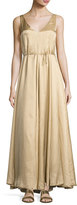 The Row Arti Sleeveless Tie-Waist Gown, Gold