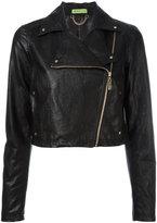 Versace asymmetric zip biker jacket