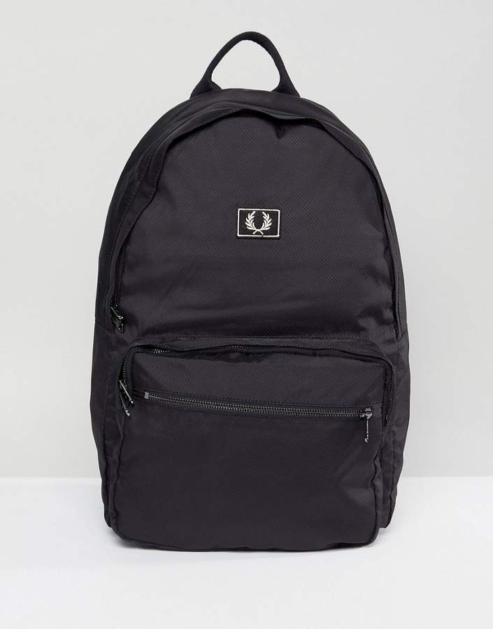 Fred Perry Logo Backpack Black