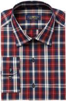 Club Room Men's Regular Fit Large Tartan Dress Shirt, Created for Macy's