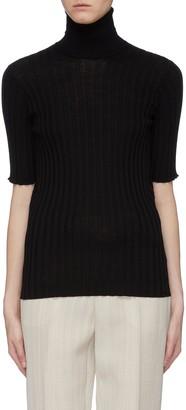 Bottega Veneta Rib knit turtleneck short sleeve sweater