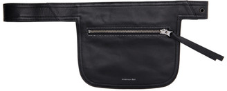 ANDERSSON BELL Black Leather Belt Waist Bag