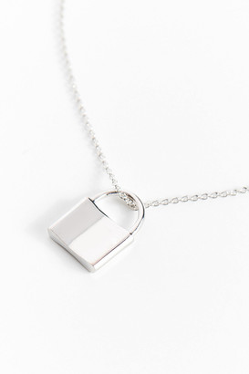 Urban Outfitters Simple Lock Pendant Necklace