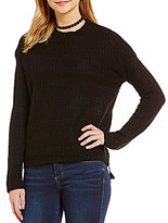 Copper Key Textured Mockneck Sweater