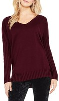 Vince Camuto Women's Ribbed Sleeve Sweater