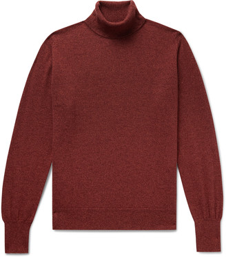 William Lockie Melange Cashmere Rollneck Sweater