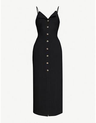 Nanushka Paz button-down woven midi dress