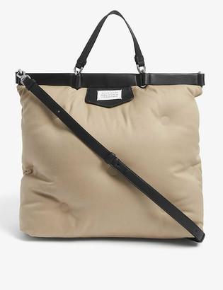 Maison Margiela Glam Slam large cotton tote bag