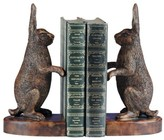 The Well Appointed House Pair of Honey Maple Bunny Bookends
