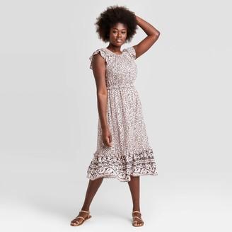 Universal Thread Women's Striped Flutter Short Sleeve Dress - Universal ThreadTM