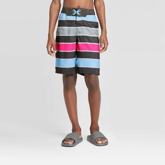 Boys' Pink Pop Stripe Swim Trunks - art classͲ Charcoal