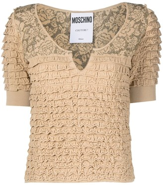 Moschino Tiered Devore Blouse