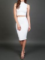 Donna Mizani Midi Skirt In White