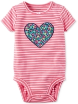 Carter's Striped Heart Bodysuit, Baby Girls (0-24 months)