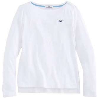Vineyard Vines Girls Long-Sleeve Boatneck Simple Tee