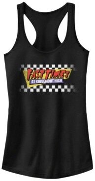 Fifth Sun Fast Times at Ridgemont High Faded Checker Logo Ideal Racer Back Tank