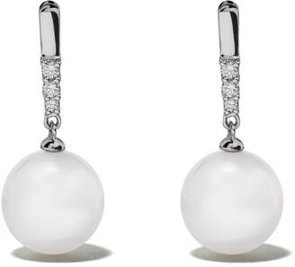 Yoko London 18kt white gold Classic South Sea pearl and diamond earrings