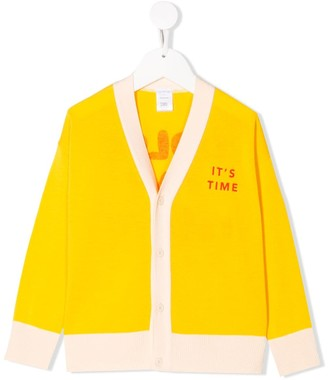 Tiny Cottons Slogan Embroidered Cardigan