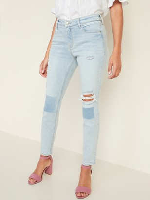 Old Navy Mid-Rise Distressed Rockstar Super Skinny Jeans for Women