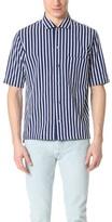 MAISON KITSUNÉ Stripes Button Down Shirt