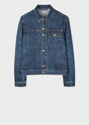 Paul Smith Men's Mid-Wash Denim Jacket