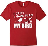 Bird Watching Shirt Birding Gift I Have Plan With My Bird--