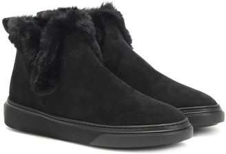Hogan Wintery Feeling suede ankle boots