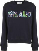 MSGM Embellished Milano Sweatshirt