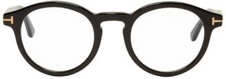 Tom Ford Black Blue Block Round Glasses