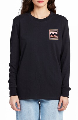 Billabong Optical Illusion Long Sleeve Graphic Tee