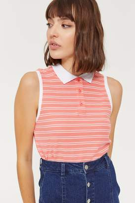 Ardene Striped Knit Polo Tank