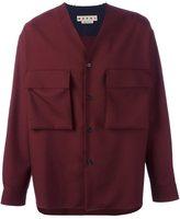 Marni raw edge v-neck shirt