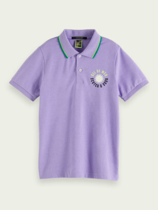 Scotch & Soda Piped-collar cotton-blend polo | Boys