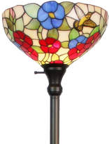 AMORA Amora Lighting AM022FL14 Tiffany-style Hummingbirds Floral Torchiere Floor Lamp 70 Inches Tall