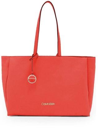 Calvin Klein Coral Shopping Bag