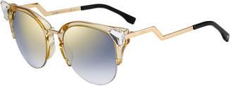 Fendi Crystal-Tip Cat-Eye Sunglasses