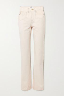 Frame Le Jane High-rise Straight-leg Jeans - Ecru