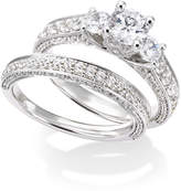 Macy's Certified Diamond Three-Stone Engagement Ring Bridal Set in 14k White Gold (2-1/2 ct. t.w.)