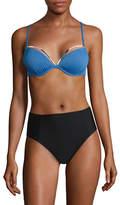 Design Lab Lord & Taylor Textured Push-Up Bikini Top