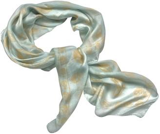 Alexander McQueen Green Silk Scarves