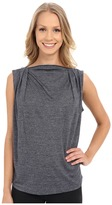 Zobha Sleeveless Drape Top w/ Zipper Neckline