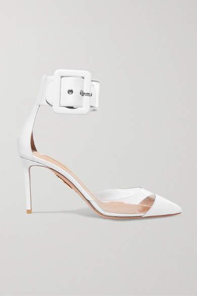Aquazzura Seduction Pvc And Leather Pumps - White