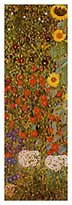 Gustav 1art1 Posters Klimt Poster Art Print - Cottage Garden With Sunflowers, 1905-06 (39 x 12 inches)