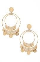 Kate Spade Women's Flip A Coin Statement Earrings